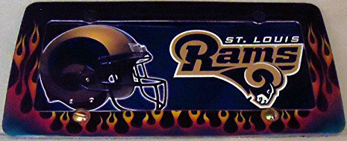 1 , Football Sign of the, SAINT LOUIS RAMS , Metal Sign, Enclosed in a Flaming, Metal Frame,,29B2.4+17B5.4+3001+