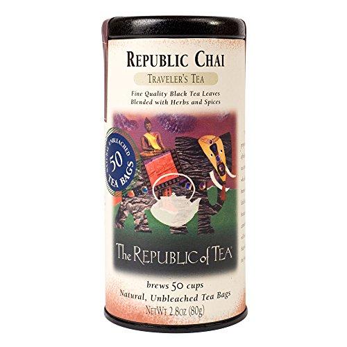 (The Republic of Tea Republic Chai Black Tea, 50 Tea Bag Tin)