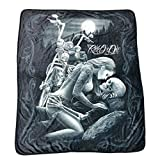 DGA Ride Or Die Lovers High Defenition Super Soft Plush Polar Fleece Blanket 50x60 Inches