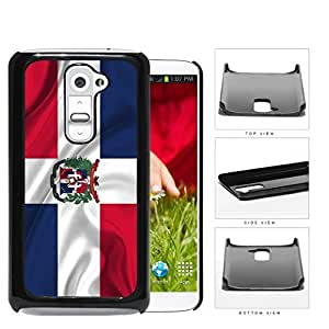 Dominican Flag With Wavy Crease Hard Plastic Snap On Cell Phone Case LG G2