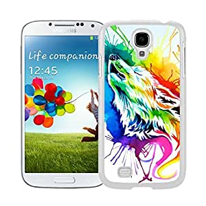 BINGO Vintage Rainbow wolf Watercolor Samsung Galaxy S4 i9500 Case White Cover