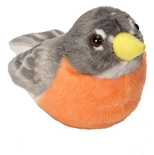 (Wild Republic Audubon Birds American Robin Plush Authentic Bird Sound, Stuffed Animal, Bird Toys for Kids, American Robin)