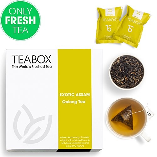 Teabox Organic Assam Oolong Tea, 16 Tea Bags, Weightloss Aid (Has Tea Got More Caffeine Than Coffee)
