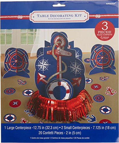 Nautical Theme Centerpieces (Anchor's Aweigh Nautical Party Ship's Wheel and Lifesavers Table Decorating Kit, Paper)