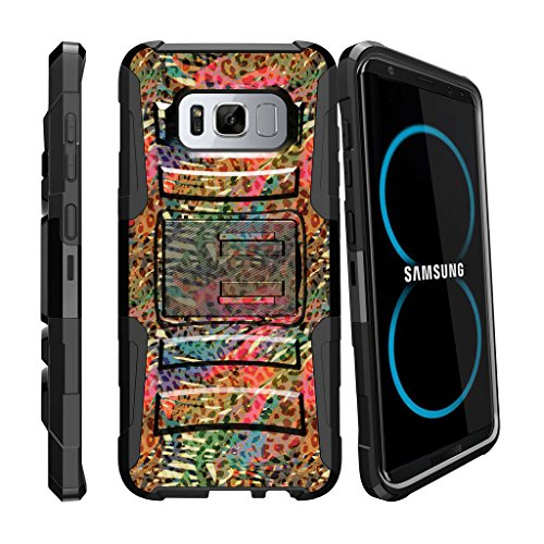 Rugged Heavy Duty Clip Cover for [Samsung Galaxy S8 Plus Holster Case, S8 Plus Case | SM-G955 Case][Clip Armor] Stylus Pen + Kickstand and Holster Shell by MINITURTLE