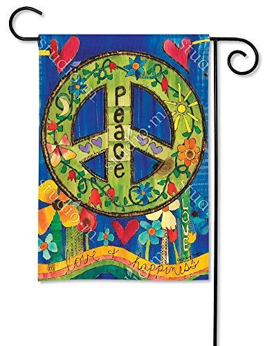 Magnet Works, Ltd. Peace Everywhere BreezeArt Garden Flag