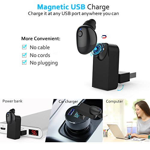 comsoon bluetooth earbuds magnetic usb charger smallest invisible wireless. Black Bedroom Furniture Sets. Home Design Ideas