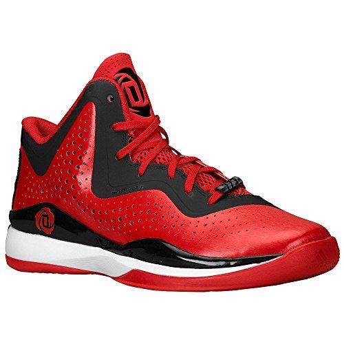 Adidas D Rose 773 Iii Mens Basketball Shoe 11 Scarlet-noir-blanc