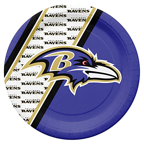 NFL Baltimore Ravens Disposable Paper Plates, Pack of 20 ()