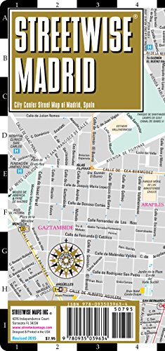 Streetwise Madrid Map - Laminated City Center Street Map of Madrid, Spain