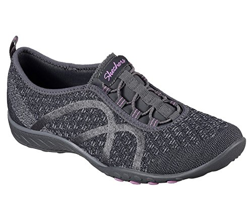 23028 Sneaker Knit Skechers Donna Charcoal YAS8vw