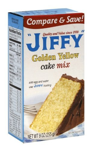Jiffy Cake Mix Yellow, 9-Ounce Boxes (Pack of 24) by Jiffy (Jiffy Yellow Cake Mix compare prices)