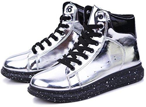 CSDM Uomini Nuovi sport di moda di moda di svago Scarpe di nozze luminose di pallacanestro di Runnig , silver , 43