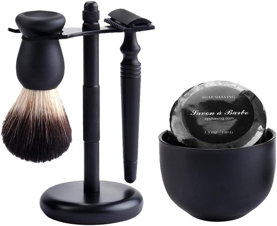IPOTCH Kit de Afeitadora de Barba Recortador para Barba + Cepillo ...