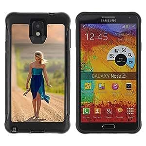 Suave TPU GEL Carcasa Funda Silicona Blando Estuche Caso de protección (para) Samsung Note 3 / CECELL Phone case / / doroga prostor put devushka /