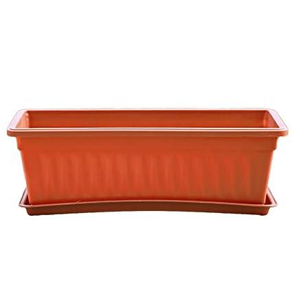 Amazon.com: MingCheng - Maceta rectangular de plástico para ...