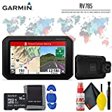 """Garmin RV 785 & Traffic, Advanced GPS Navigator for RVs with Built-in Dash Cam, 7"""" Touch Display and Voice-Activated Navigation Standard Accessory Kit"""
