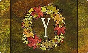 Toland Home Garden Fall corona Monogram y 18x 76,2cm decorativa usa-produced estándar Indoor-Outdoor funda alfombrilla 800144