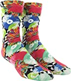 Kurb Socks Women's Spin Records White/Assorted Colors Crew Socks - One size fits most