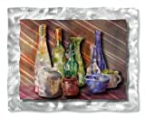 All My Walls STIL00001 28.5'' x 35.5'' ''Colorful Bottles'' Metal Wall Art by Ash Carl Designs