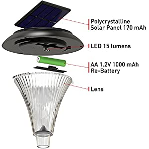 [LONG-LASTING] Solar Lights Outdoor - Solar Pathway Lights - for Garden Path Walkway Light - Yard Lawn Driveway Sidewalk Outside Light - Landscape Lighting - Bright White LED - Up To 25HR - 4 Pack Set