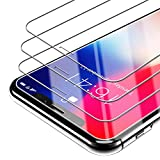 Syncwire iPhone X Screen Protector [Face ID Full Protective Design] 3-Pack HD 9H