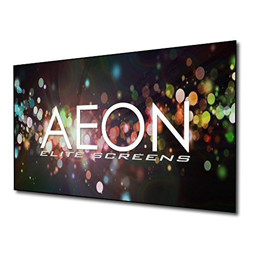 (Elite Screens Aeon Series, 125-inch 2.35:1, 8K / 4K Ultra HD Home Theater Fixed Frame EDGE FREE Borderless Projector Screen, CineWhite Matte White Front Projection Screen, AR125WH2-WIDE)