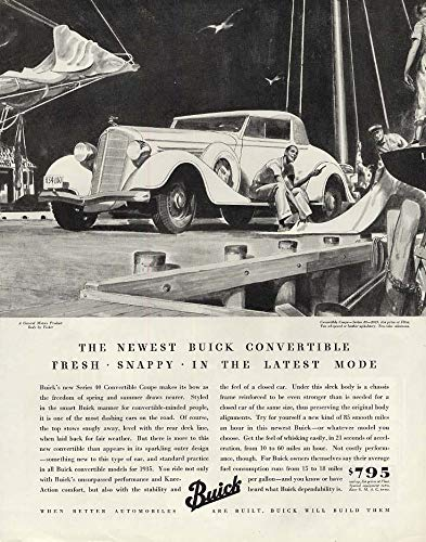 Fresh Snappy in the Latest Mode - Buick Series 40 Convertible Coupe ad 1935 P