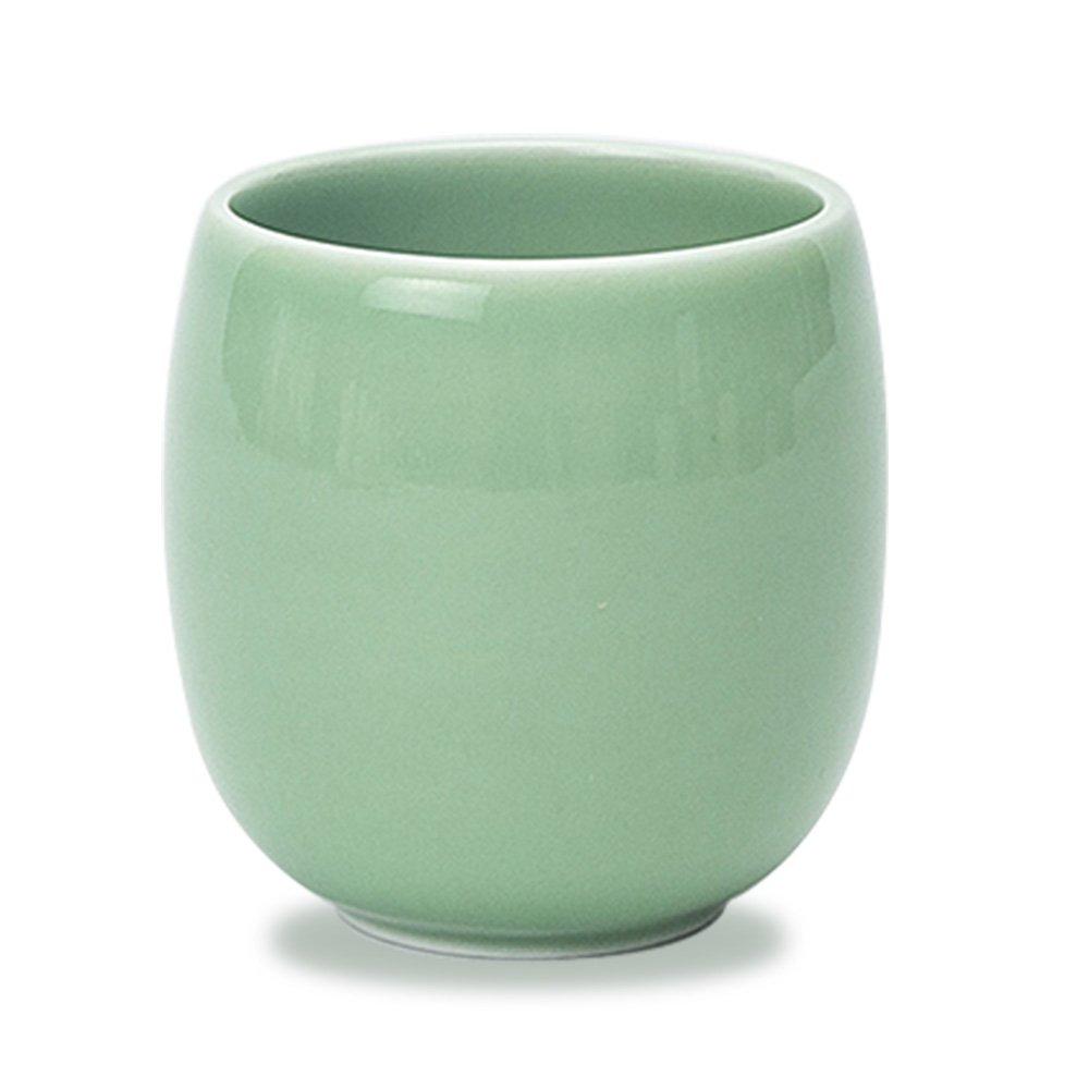 Newchinaroad Longquan ware plum green circular shape teacup-handmade Chinese Kungfu ceramic teacup-traditional porcelain celadon cup 150ml