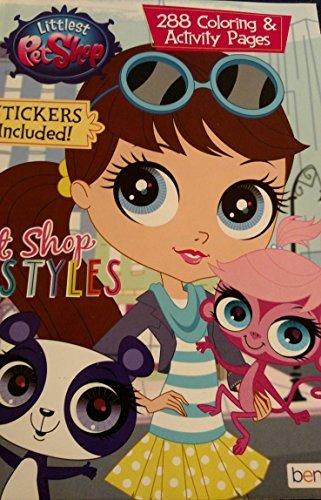 Littlest Pet Shop 288 Coloring & Activity Pages (Stickers Included) Pet Shop - Pet Coloring Littlest Shop