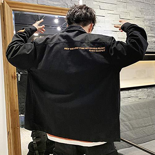 Coat Jean Unie Noir Tops Blouse En Veste Bouton Vintage Hommes Couleur wBq1zpp