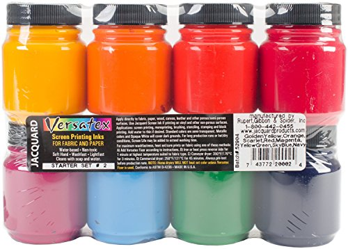 Jacquard Versatex Printing Ink Set,Multicolor,#2 ()