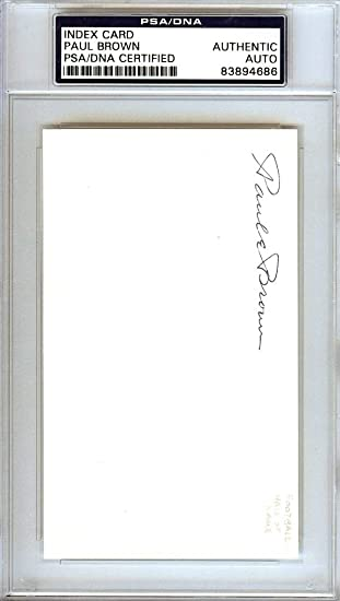 Paul Brown Autographed 3x5 Index Card Cleveland Browns 83894686