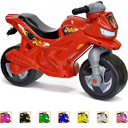 Ride-on Push Bike for Toddlers and Kids 2-5 Years Old Plastic Balance Bike Outdoor & Indoor Stroller Toy Motorcycle 2 Wheel Walking Activity Trainer Lightweight Washable RED  (Motorcycle Toddler)