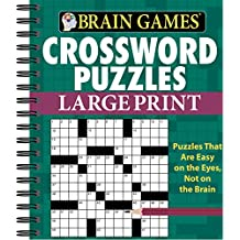 Brain Games - Crossword Puzzles - Large Print (Green)