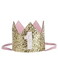 Baby Birthday Crown Tiara Headbands For Girl Birthday Party Hairband Hat Outfit