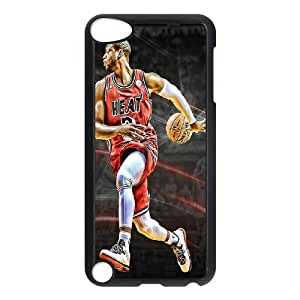 HXYHTY Customized Print Dwyane Wade Pattern Hard Case for iPod Touch 5