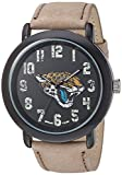 Game Time Men's 'Throwback' Quartz Metal and Leather Casual Watch, Color:Beige (Model: NFL-TBK-JAC)