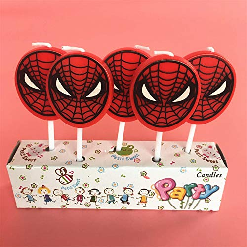 Astra Gourmet Spiderman Birthday CakeCandles for Kids Happy Birthday Decorative Super Hero Cake Toppers Party Decorations -