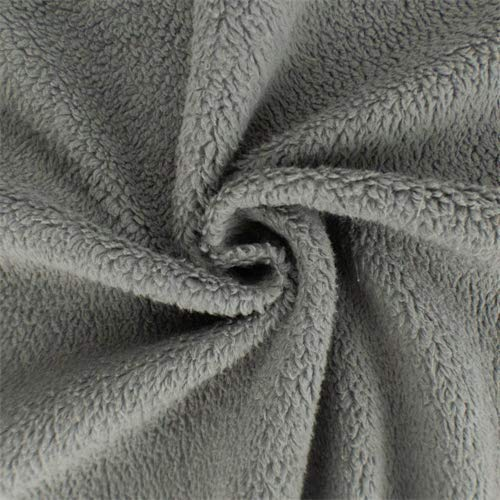 Porpoise Grey Single-Sided Berber Fleece, Fabric by The Yard