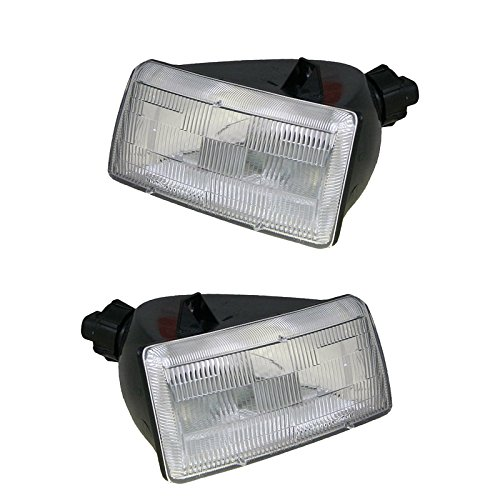 Headlights Headlamps Left & Right Pair Set for 91-95 Dodge Grand Caravan Voyager (1992 92 Dodge Grand Caravan)