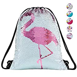 Sequin Mermaid Drawstring Bag For Girls