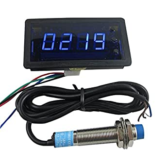 DIGITEN 12V 4Digit Blue LED Counter Meter with Relay Output