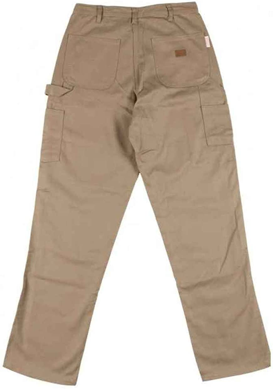 KHAKI retardant Carpenter Pants 46 32 Inseam Rasco Fire