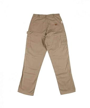 270b80cfa946 Amazon.com  Rasco FR Khaki 10 oz Carpenter Pants  Clothing