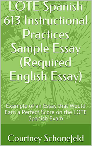 lote spanish  instructional practices sample essay required  lote spanish  instructional practices sample essay required english  essay example of an