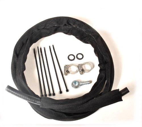 LarryBs Return Fuel Line Kit 94-98.5 overflow valve to frame for Dodge Cummins