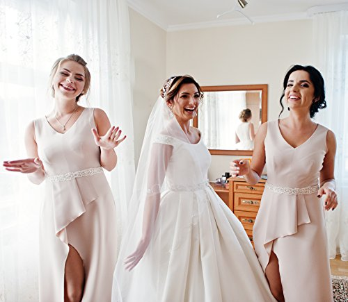 Youfrii Bridal Belt For Women And Wedding Dress Belt Sashes Set
