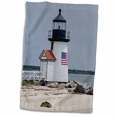 3D Rose Massachusetts Nantucket. Brant Point Lighthouse. TWL_206378_1 Towel, 15