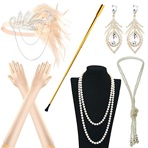 IETANG 1920s Accessories Themed Costume Mardi Gras Party